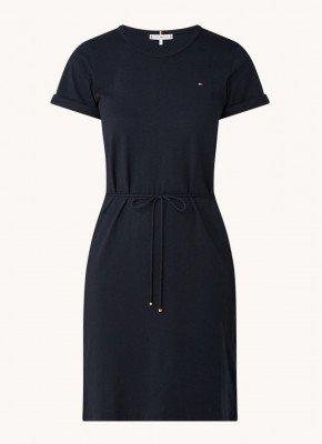 Tommy Hilfiger Tommy Hilfiger Mini T-shirt jurk met strikceintuur
