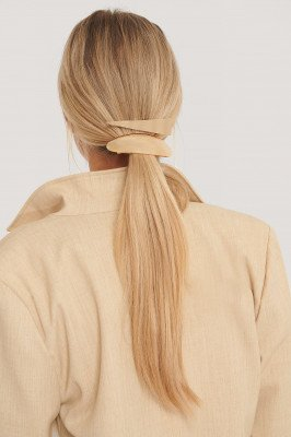 NA-KD Accessories 2-Pack Grote Haarclips - Gold
