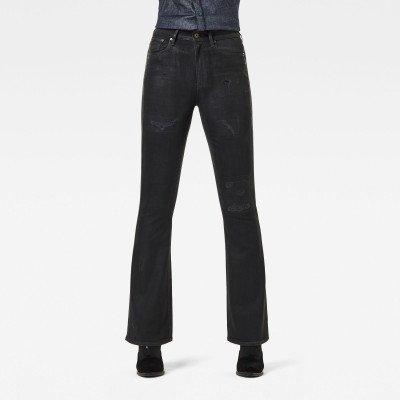 G-Star RAW 3301 High Flare Jeans - Zwart - Dames