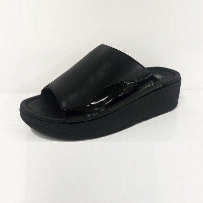 FitFlop FitFlop Myla Leather Slides slippers zwart