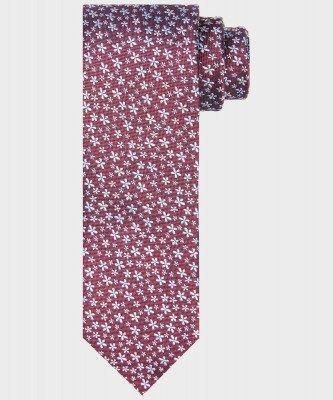 Michaelis Michaelis heren bloemenprint stropdas rood