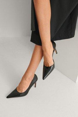NA-KD Shoes NA-KD Shoes Hoge Hakken Met Zijsnede - Black