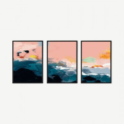 MADE.COM Ana Rut Bre, 'Abstract Landscape', set van 3 ingelijste prints, A2