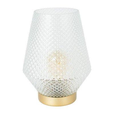 Xenos Tafellamp - glas - transparant - Ø21x29cm
