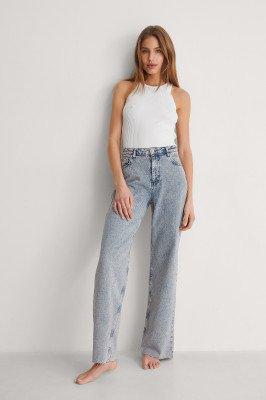 Trendyol Trendyol Jeans Met Wijde Pijpen - Blue