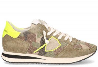 Philippe Model Philippe Model Tropez X Camouflage Neon Groen/Geel Herensneakers