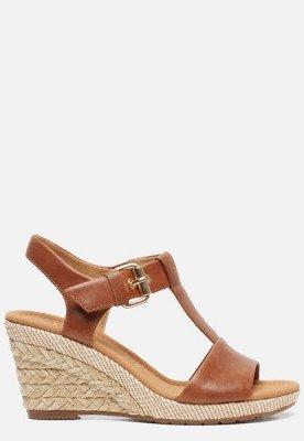 Gabor Gabor Comfort sandalen met sleehak cognac
