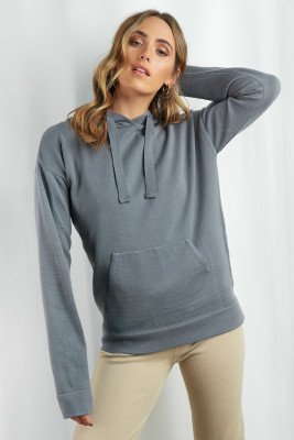 XLE the Label XLE the Label Ty Knitted Hoodie - Grey