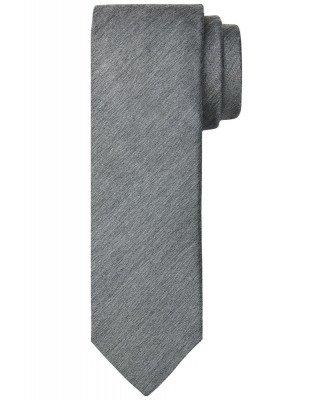 Profuomo Profuomo heren grijze geweven zijden stropdas