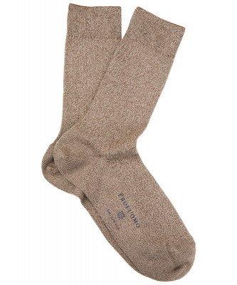 Profuomo Profuomo heren bruin gemêleerde sokken