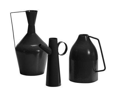 BePureHome BePureHome Vaas 'Tins' Set van 3 stuks, kleur Zwart