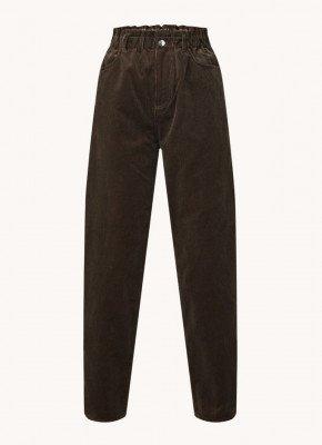 Samsoe & Samsoe Samsoe & Samsoe Simone high waist straight fit pantalon van corduroy