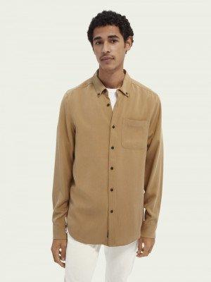 Scotch en Soda Scotch & Soda Regular fit TENCEL™-overhemd