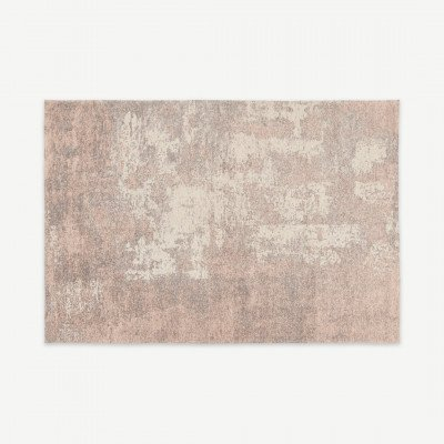 MADE.COM Genna vloerkleed, 160 x 230 cm, poederroze