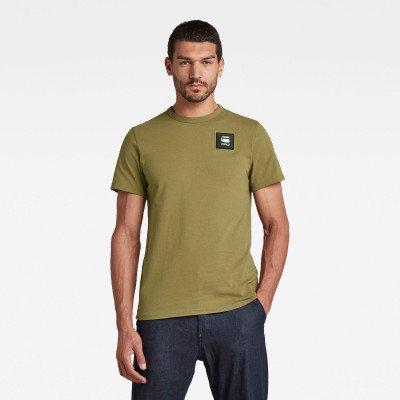 G-Star RAW Badge Logo+ T-Shirt - Groen - Heren
