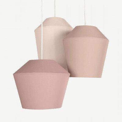 MADE.COM Tuli cluster hanglamp, roze