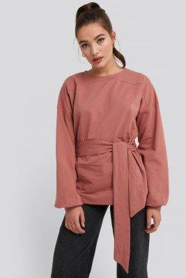 NA-KD NA-KD Yoke Fitted Sweater - Pink