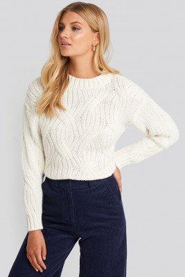 Trendyol Trendyol Yol Knit Detail Sweater - White