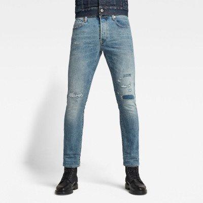 G-Star RAW 3301 Slim Selvedge Jeans - Lichtblauw - Heren