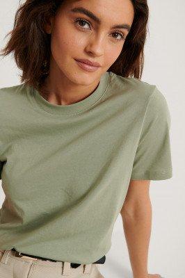 NA-KD Basic NA-KD Basic Basic T-Shirt - Green