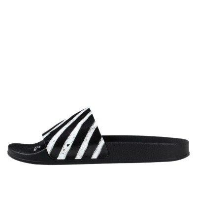 Off-White Off-White Spray Stripes Slides Black White (2020)
