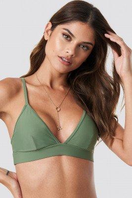 NA-KD Swimwear NA-KD Swimwear Sporty Bikini Bralette - Green