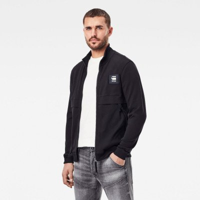 G-Star RAW Tweater Box Graphic Met Rits - Zwart - Heren