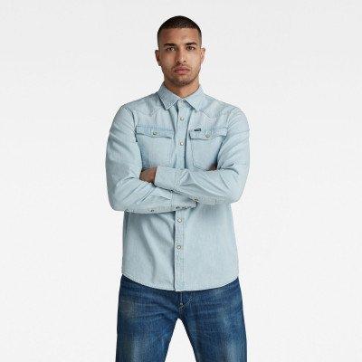 G-Star RAW 3301 Slim Shirt - Lichtblauw - Heren
