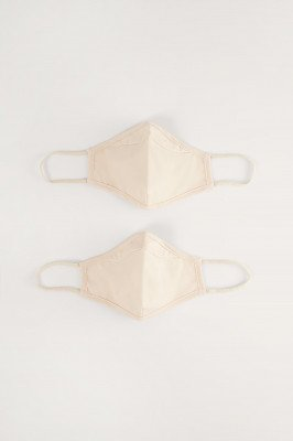 NA-KD Accessories NA-KD Accessories 2-Pack Stevige Passende Maskers - Beige
