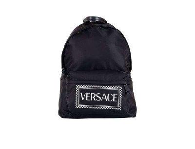 Klekt Versace Nylon Vintage Backpack Black White