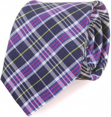 Profuomo Profuomo Stropdas Purple Checks 066B