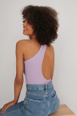NA-KD Trend NA-KD Trend Asymmetrisch Geribd Body - Purple