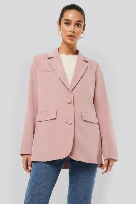 NA-KD Trend NA-KD Trend Loose Fitted Blazer - Pink
