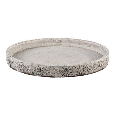 Firawonen.nl Merida white antique cement round bowl l