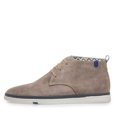 Floris van Bommel Floris van Bommel Floris Casual Taupe Suede
