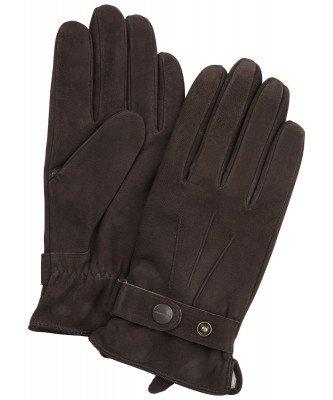 Profuomo Profuomo heren bruine nubuck handschoenen