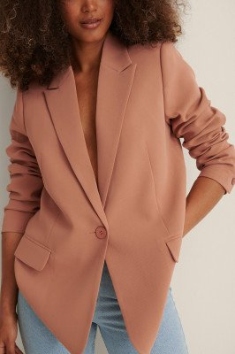 Curated Styles Curated Styles Voorzak Oversized Blazer - Orange