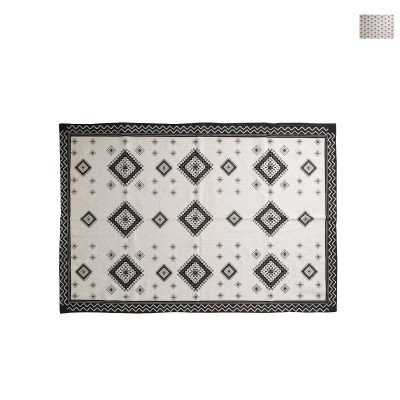 Xenos Vloerkleed azteken zwart - diverse varianten - 175x120 cm
