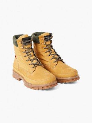 Levi's Torsten Quilted Boots - Geel / Medium Yellow