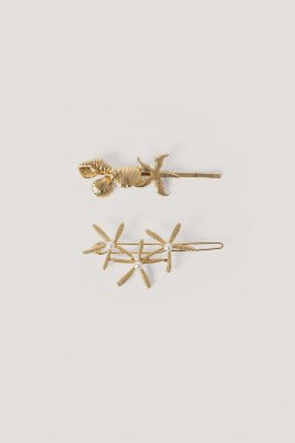NA-KD Accessories NA-KD Accessories 2-Pack Haarspelden Met Zeester - Gold