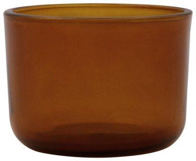 HEMA HEMA Sfeerlichthouder Ø9x6.5 Glas Bruin