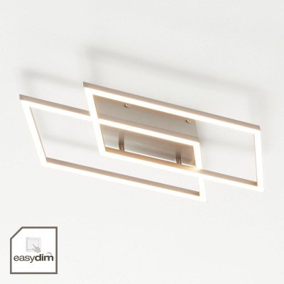 PAUL NEUHAUS LED plafondlamp Inigo met 2 lampjes lengte 53,8 cm