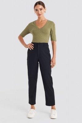 NA-KD Trend Ankle Suit Pants - Black