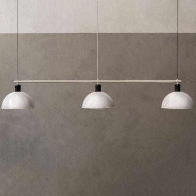 Menu Menu Hubert hanglamp 3-lamps ivoor/brons