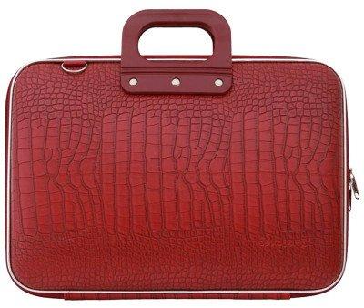 Bombata Bombata Croco Hardcase Laptoptas 17 inch Red