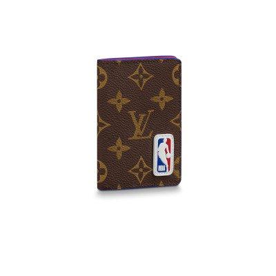 Louis Vuitton Louis Vuitton x NBA Pocket Organiser Wallet Monogram (FW20)