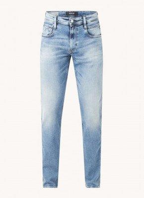 Replay Replay Anbass 537 Bio slim fit jeans met medium wassing