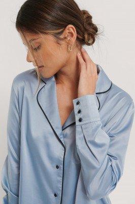 NA-KD Lingerie NA-KD Lingerie Shirt - Blue