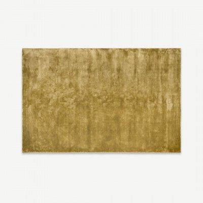 MADE.COM Merkoya luxe viscose vloerkleed, 160 x 230cm, antiek goud
