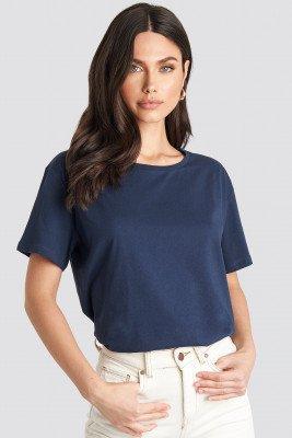 NA-KD Basic Basic Oversized T-Shirt - Navy